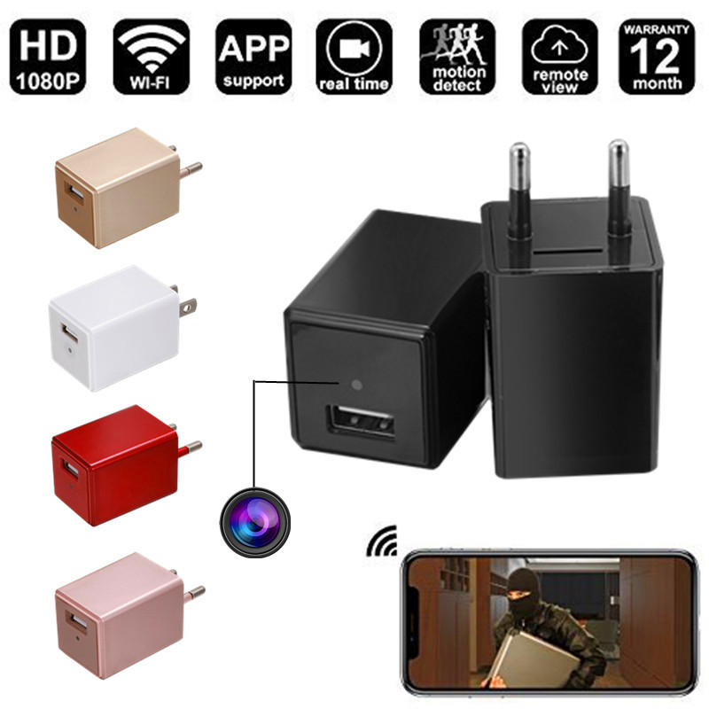M10 Wireless H.264 HD 1080P WIFI Hidden Camera USB Mini Wall Charger