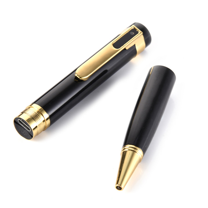 P26 HD 1080P HD Hidden Covert Camera Video Recording pen Gold/silver