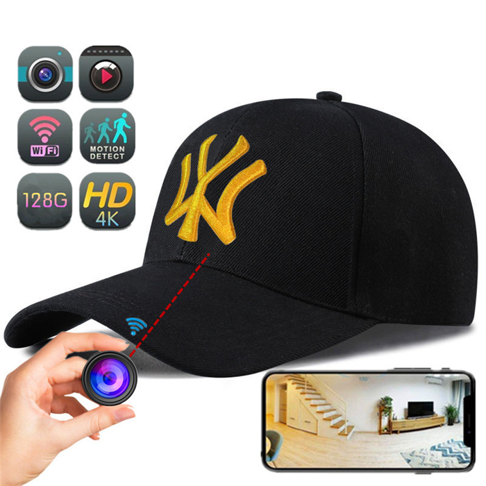 H34 HD 4K WIFI Live streaming Baseball Cap Hat CAM Hidden camera video recorder
