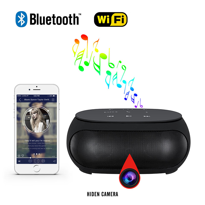 H14 4K HD multi-function Wifi spy bluetooth speaker Camera
