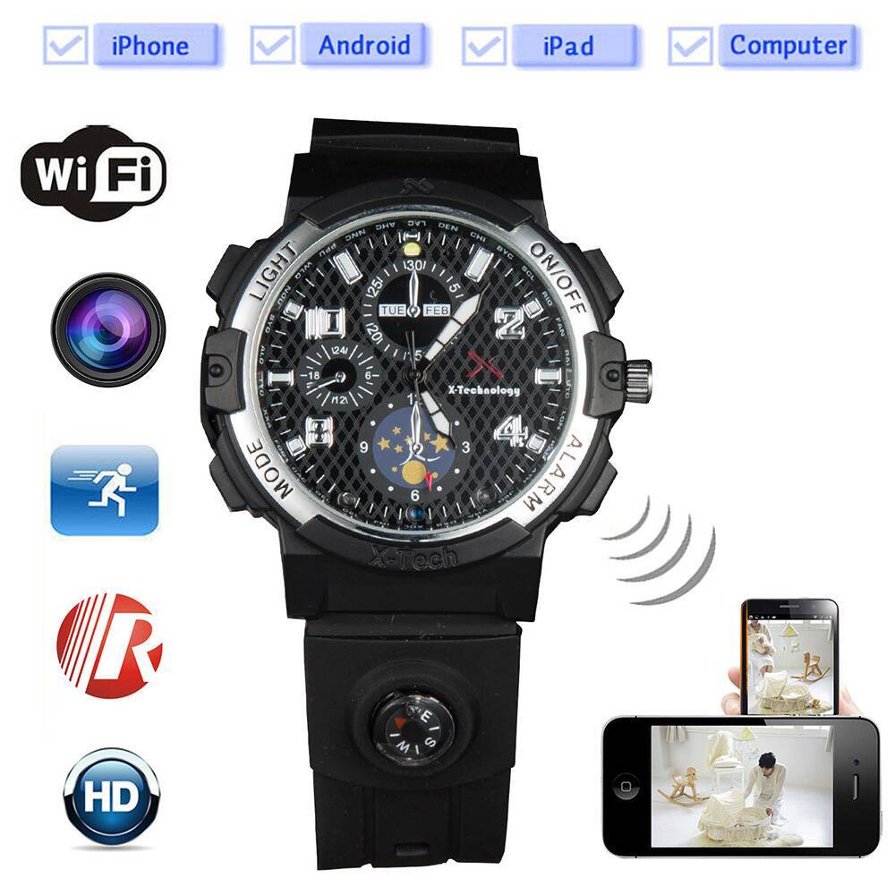 CW-Y32 Night Vision 720P HD Spy Hidden Wireless Wifi Camera Watches