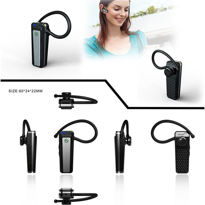 V22 H.264 1080P Mini Camera Fake Bluetooth Earphone Headset Hidden DVR Camera Camcord