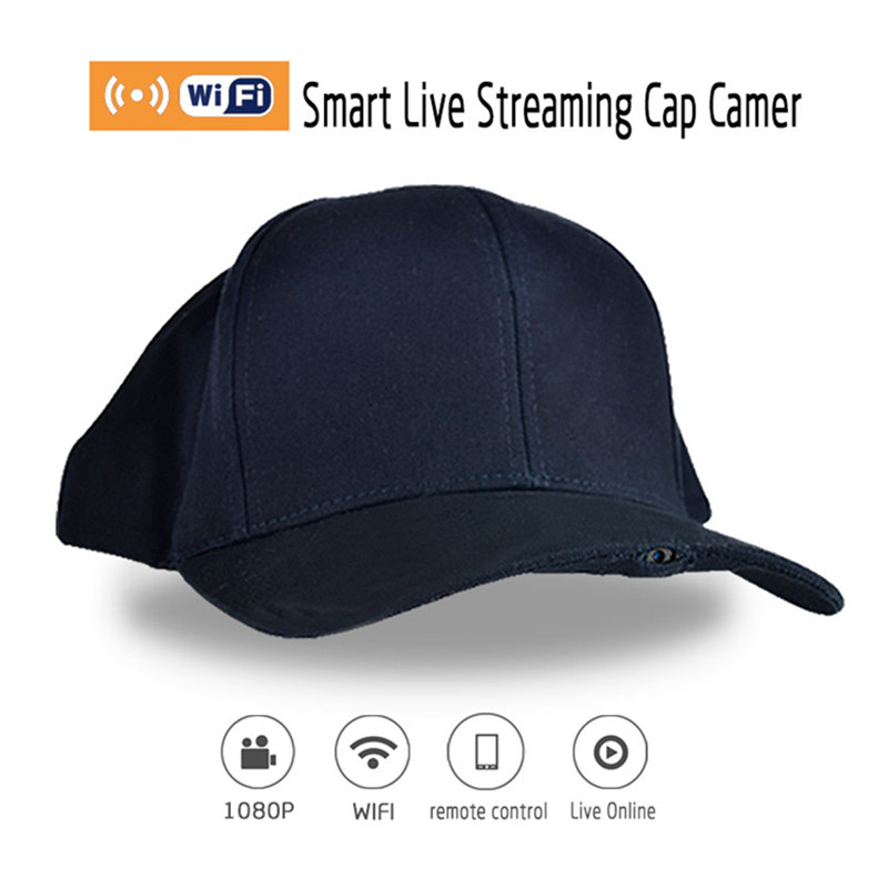 WF-H1 Full HD 1080P Wearable Sports Camera Cap Wifi Baseball Hat Cam