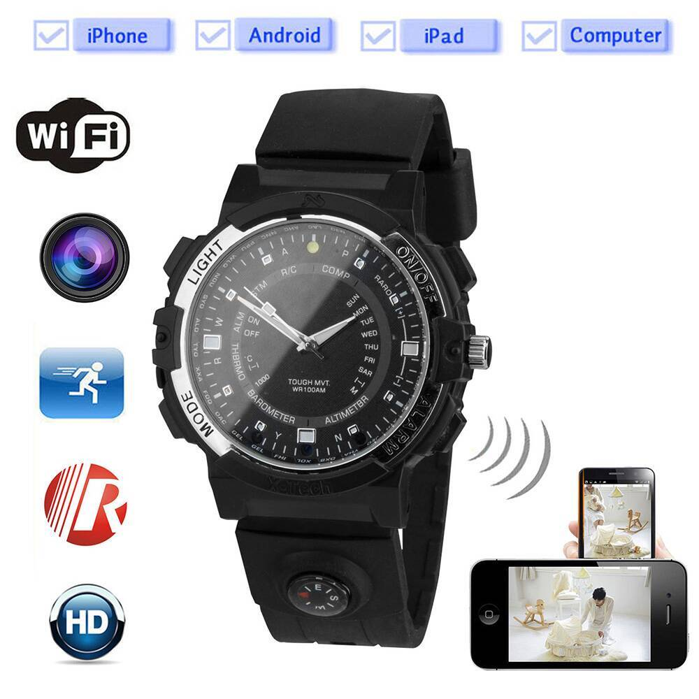CW-Y30 Night Vision 720P HD Spy Hidden Wireless Wifi Camera Watches