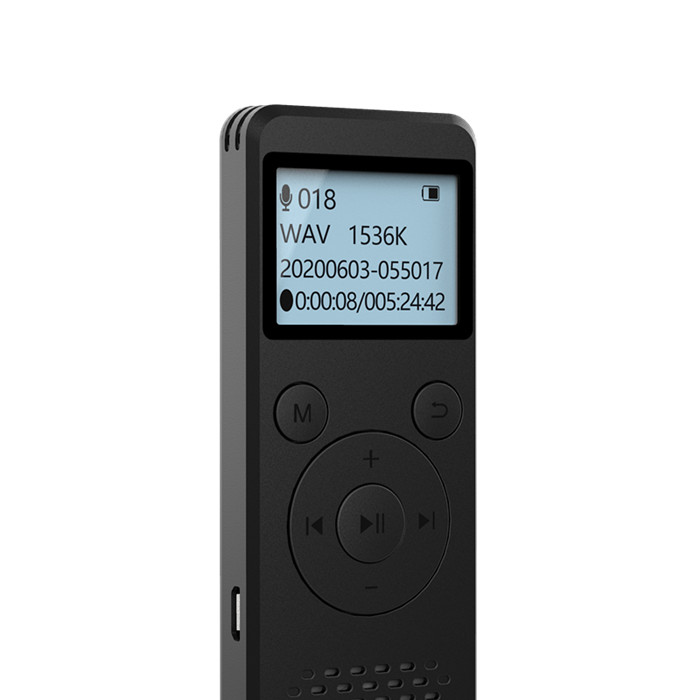 2020 NEWS -DVR-818 8GB 1536kpbs Digital Voice Recorder and MP3 player battery life 110 hours