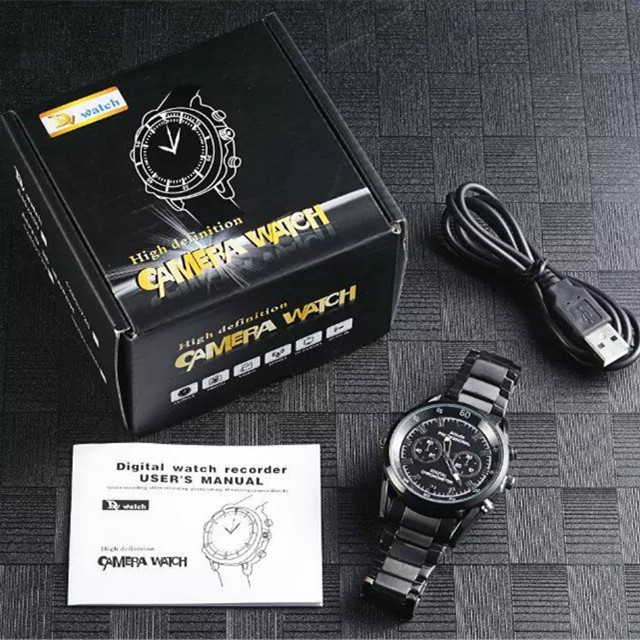A3 HD Hidden Spy Camera Watch w/Night Vision Motion Detection voice recording Cam DVR