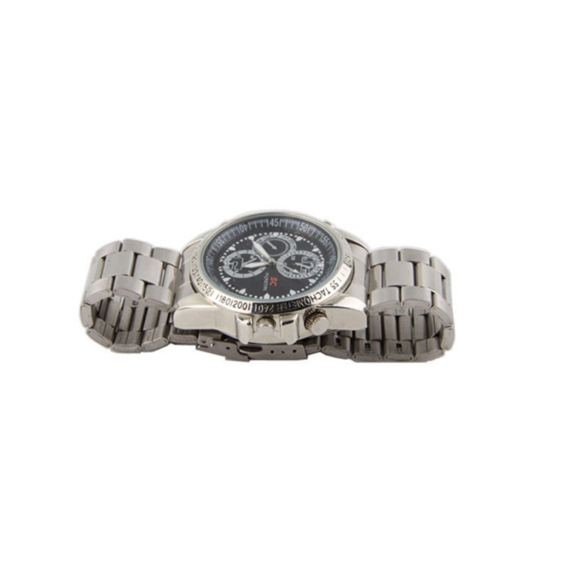 SC 8GB Stainless Steel Watch Spy Camera